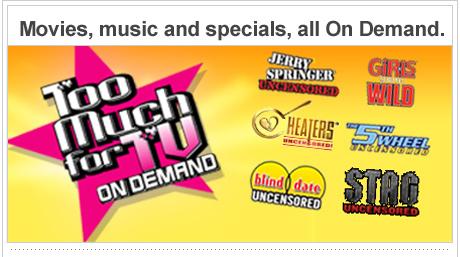 Música, películas y especiales, todos On Demand.
