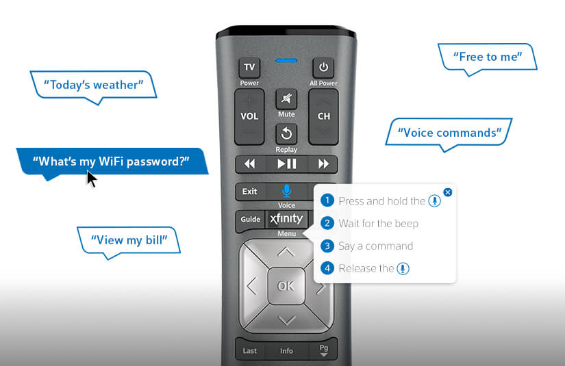 X1 Voice Remote with voice commands